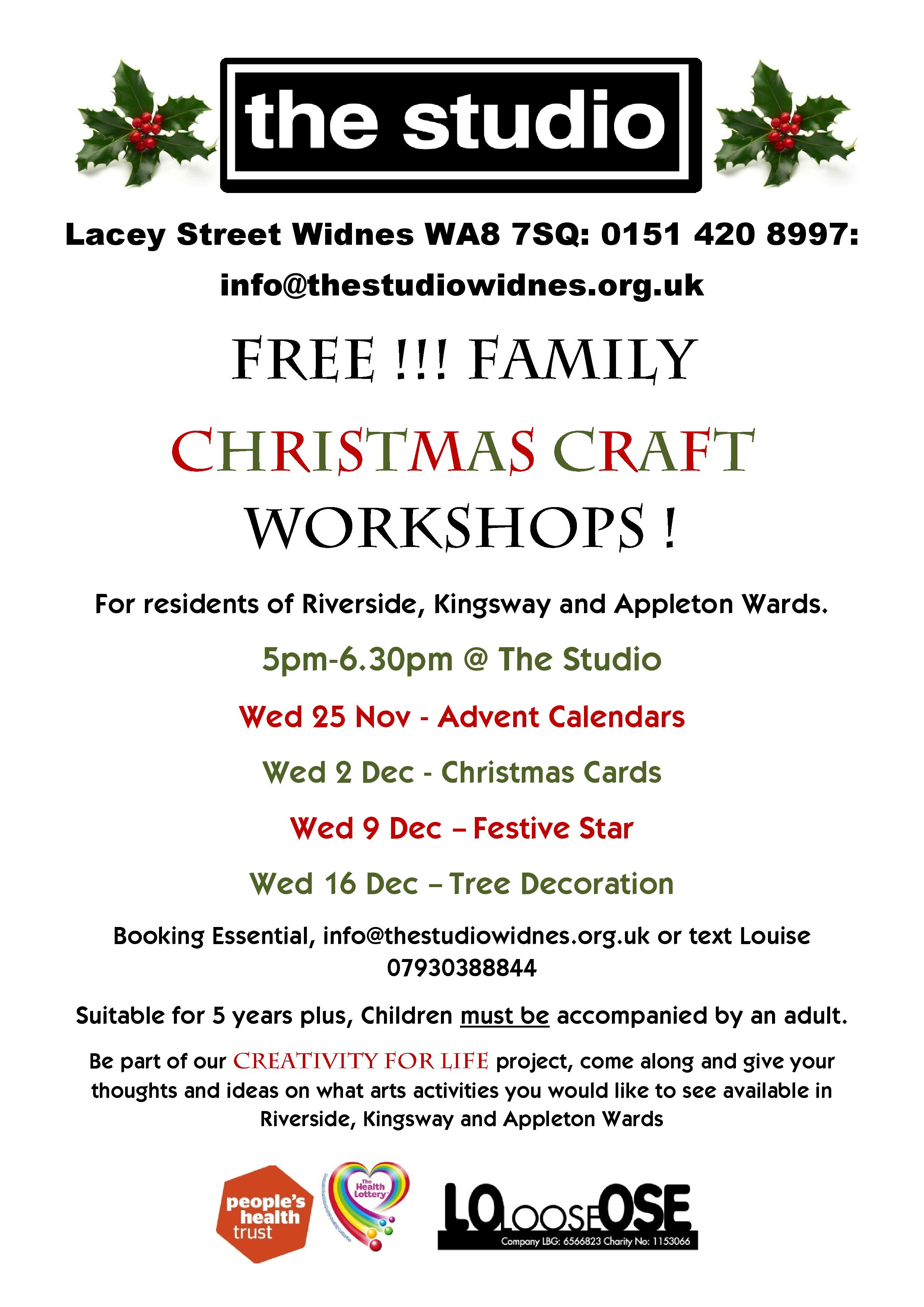 FREE Christmas Craft Workshops
